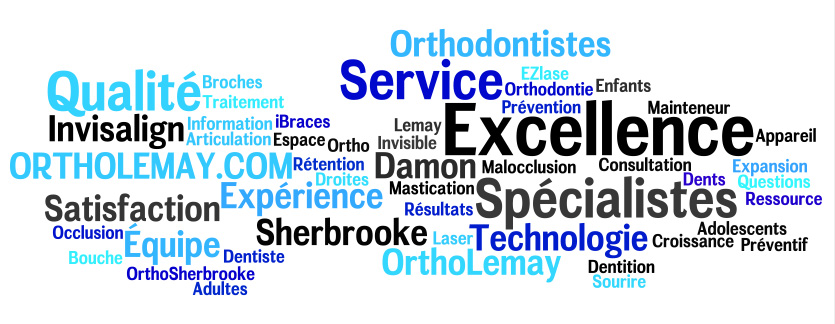 Word cloud Lemay 2 orthodontistes lemay