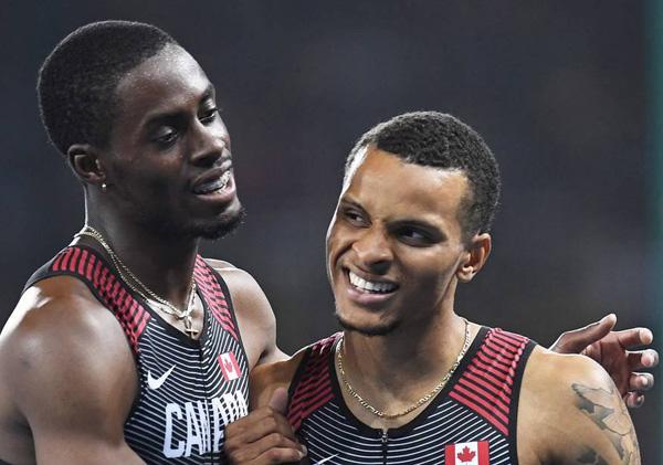 Coureur olympien Brendon Rodney fait une finale olympique en portant ses élastiques orthodontiques!
