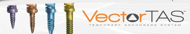mini-vis d'ancrage VectorTAS de Ormco